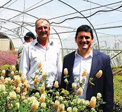 Benvindo Maçãs, diretor da Estação de Melhoramento de Plantas de Elvas, e Nuno Canada, presidente  do INIAV